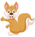 cute squirrel cartoon showing vector image