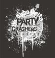 Delta party crash vector image vector image