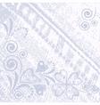 denim floral jeans background vector image vector image