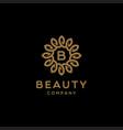 elegant luxury flower logo design vector image vector image