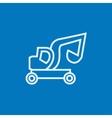Excavator truck line icon vector image vector image