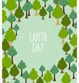 forest pattern Background of trees Earth day vector image vector image