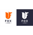 fox modern logo and emblem vector image