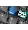 fresh ideas button on computer keyboard key vector image vector image