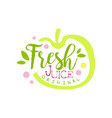 fresh juice original logo template apple juice vector image