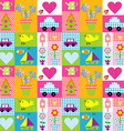 Gift wrapping paper background for kids vector image vector image