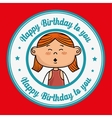girl happy birthday vector image