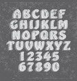 handcrafted font collection vector image
