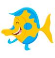 happy cartoon fish animal character vector image vector image