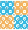 House pattern set colored vector image vector image