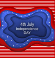 invitation for fourth of july independence day of vector image