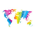 low poly global world map vector image vector image