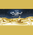 merry christmas happy new year calligraphy vector image