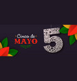 mexican paper art banner for cinco de mayo holiday vector image vector image
