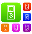 mini mp3 portable player set collection vector image