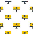 monitor chip pattern seamless vector image vector image