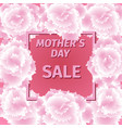mother s day sale card with carnation flowers vector image vector image