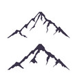 mountains set hand drawn rocky peaks vector image vector image