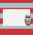 owl invitation card template vector image vector image