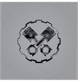 pistons in a gear on metal background vector image