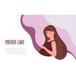 pregnant woman portrait vector image vector image