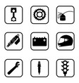 race icons on white background vector image vector image