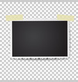 realistic photo frame with retro figured edges vector image vector image