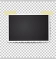 Realistic photo frame with retro figured edges