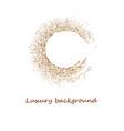 round gold glitter luxury sparkling confetti vector image