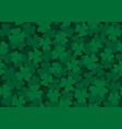 seamless clover pattern dark vector image vector image