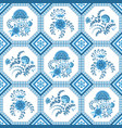 seamless pattern with beautiful floral ornament vector image vector image