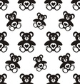 Seamless pattern with teddy bears vector image vector image