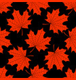 seamless texture of bright orange maple leaves on vector image vector image