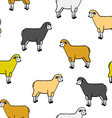 seamless wallpaper with sheep and rams vector image vector image