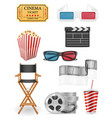 set cinema icons stock vector image vector image