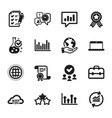 set education icons such as update data upper vector image vector image