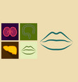set of icons in flat design on medecine theme vector image