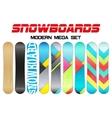 Set of Snowboards sample symbols vector image vector image