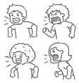 set shouting people vector image