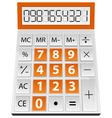 simple calculator vector image vector image
