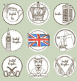 Sketch United Kingdom icons vector image vector image