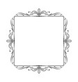 square frame with leaves and monograms vector image vector image