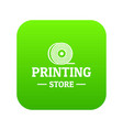 store 3d printing icon green vector image vector image