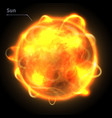 sun star realistic planet is isolated vector image