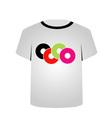 T Shirt Template- Music CDs vector image