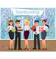 teambuilding concept flat vector image vector image