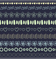 textile seamless pattern on dark background vector image