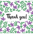 thank you postcard seamless pattern with vector image vector image