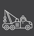 tow truck line icon transport and vehicle vector image vector image