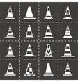 Traffic cone icon set vector image